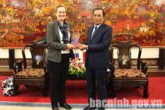 Phó Chủ tịch UBND tỉnh Nguyễn Văn Phong tiếp Phó Đại sứ Hoa Kỳ