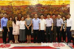 Đoàn công tác Đại sứ quán Đan Mạch làm việc tại Bắc Ninh