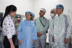 Chủ tịch UBND tỉnh Nguyễn Hương Giang làm việc với Công ty Goertek Vina