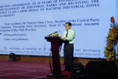 Bài phát biểu bế mạc Hội nghị của Trưởng ban Ban quản lý các KCN Bắc Ninh