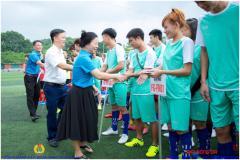 Khai mạc Giải bóng đá công nhân lao động Công đoàn Tập đoàn Khoa học Kỹ thuật Hồng Hải năm 2019